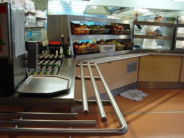 Fastfood Keuken Inrichting : Zelfbediening Inox+